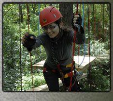 Lanový park Modřany - Lesní adrenalin