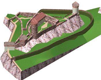 Model hradu Aueršperk, zdroj www.bystricenp.cz