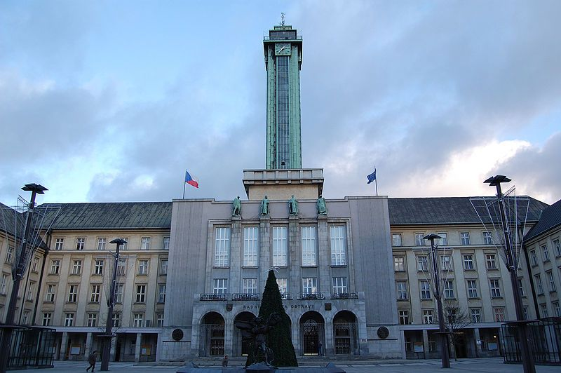 Ostravská radnice - autor Petr Šmerkl, licence CC 3.0 http://creativecommons.org/licenses/by-sa/3.0/deed.cs