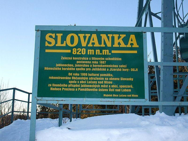 Rozhledna Slovanka u Janova nad Nisou - autor Supervht, dílo volné