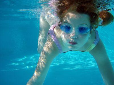 Plavání dětí, potápění