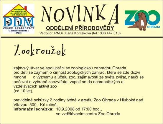 Zoo Ohrada - Zookroužek