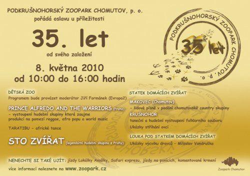 Oslava 35. výročí založení Podkrušnohorského zooparku Chomutov