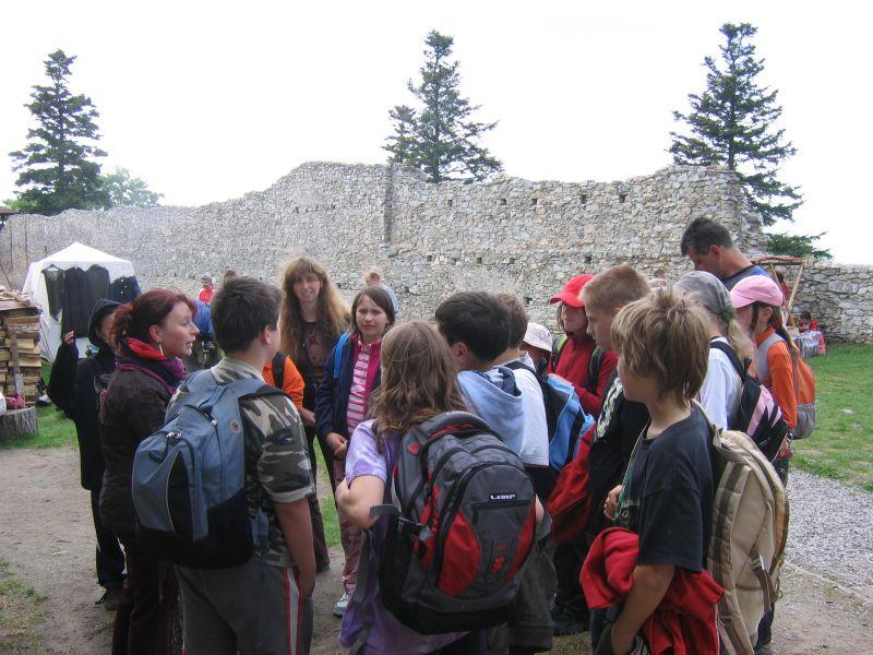 Hrad Kašperk - školní exkurze a výlety