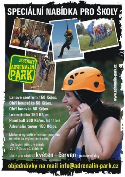 Adrenalin Park Ranč Orel - Program pro školní výlet