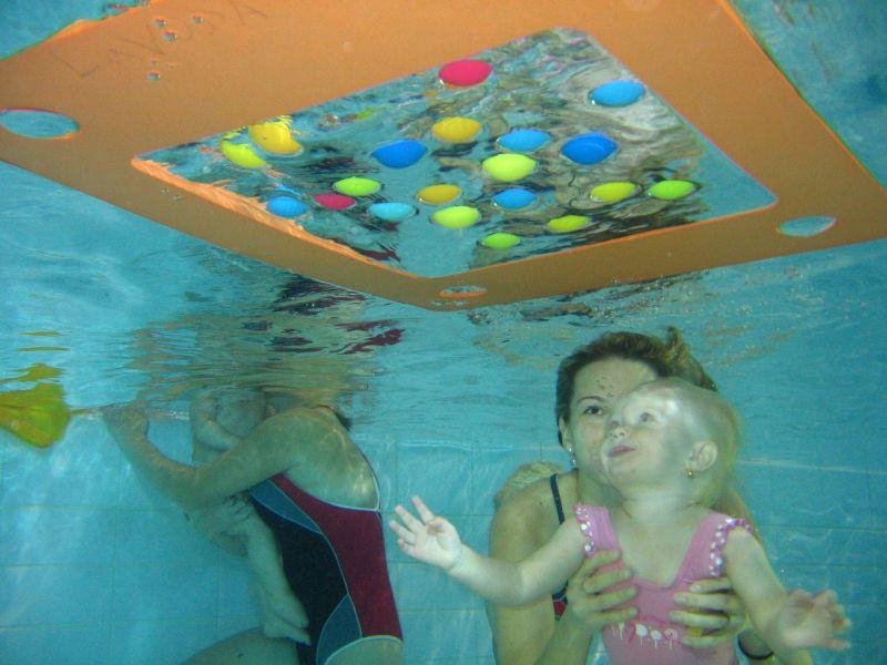 Rafťáček - Plavání dětí a rodičů v bazénu Hotelu Boscolo Praha