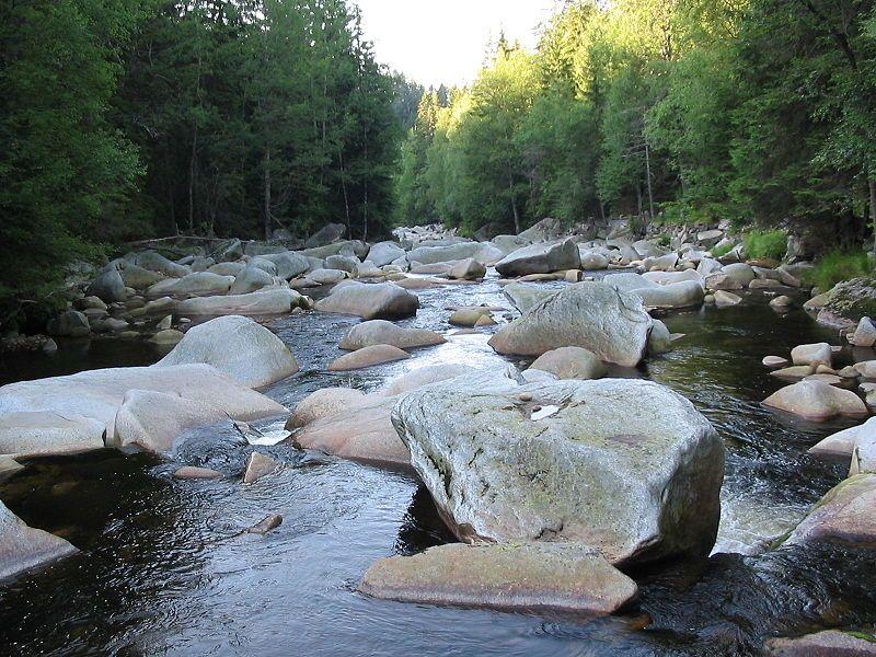 Řeka Vydra u Antýglu