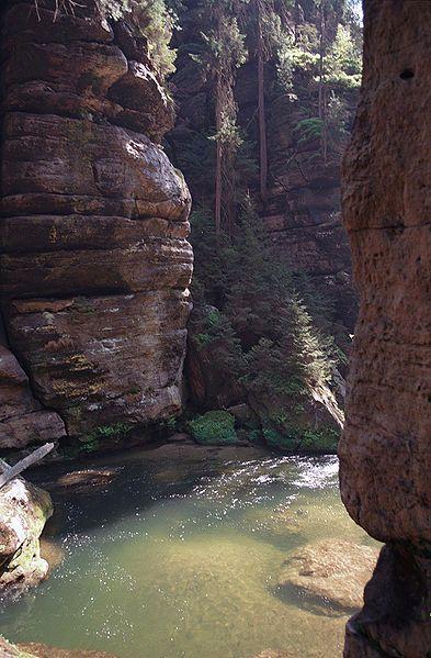Soutěsky Hřensko - kaňon řeky Kamenice