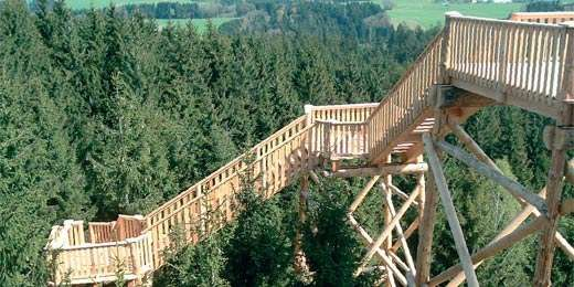 BaumKRONENweg - Stezka v korunách stromů, Rakousko, Kopfing