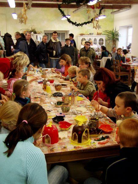 Keramika RH Jindřichův Hradec - Děbolín - akce Advent v dílně