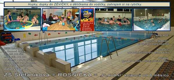 PŠ ZÉVA - Plavání rodičů s dětmi v bazénu ZŠ Štefánikova, Hradec Králové