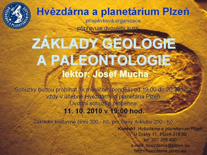 Hvězdárna a planetárium Plzeň - Kurz základů geologie a paleontologie
