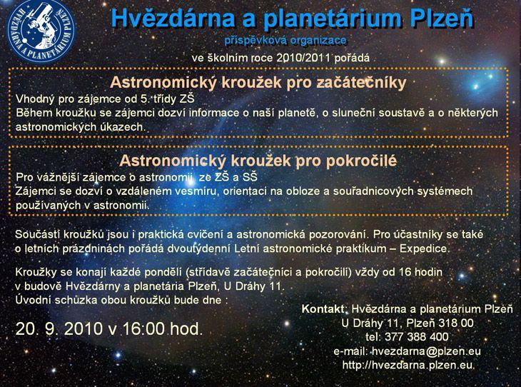 Hvězdárna a planetárium Plzeň - Astronomický kroužek