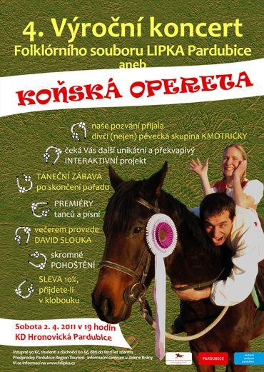 Pardubice - Koňská opereta - 4. výroční koncert folklorního souboru Lipka