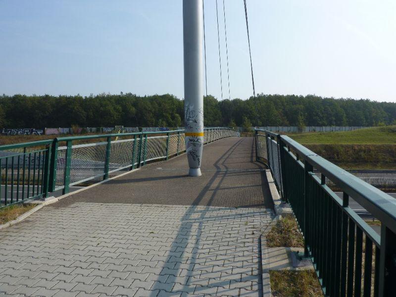 Trasa Plzeň-Černice - Radyně - most přes dálnici
