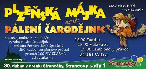 Plzeň - Pálení čarodějnic ve Štruncových sadech