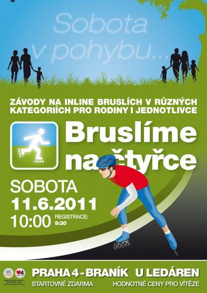 Praha 4, U ledáren -  Závody na in line bruslích