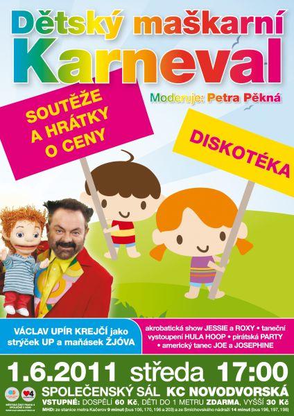 Praha, KC Novodvorská - DĚTSKÝ MAŠKARNÍ KARNEVAL