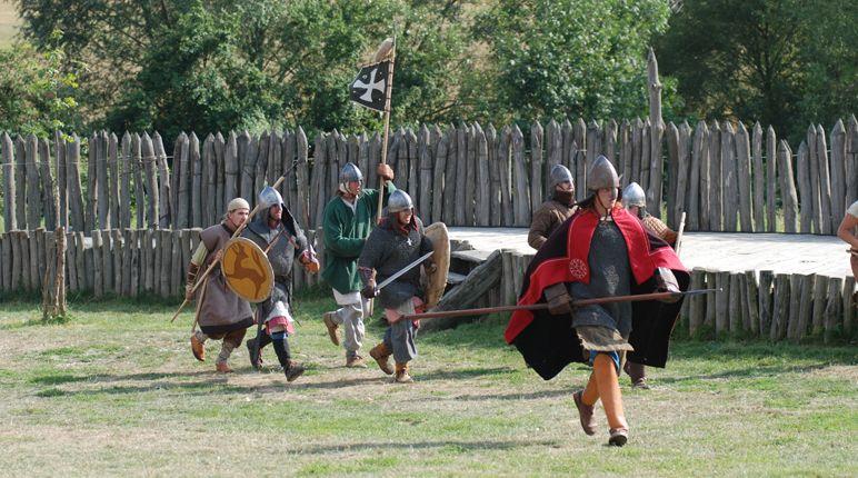 Archeoskanzen Modrá - Veligrad - historické bitvy
