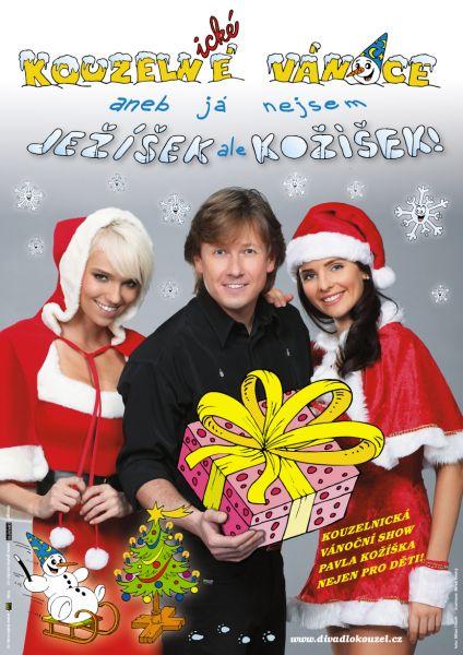 Divadlo kouzel Pavla Kožíška - Kouzelné Vánoce aneb já nejsem Ježíšek ale Kožíšek!