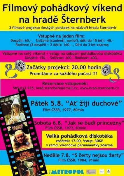 Hrad Šternberk - Filmový pohádkový víkend a dětská diskotéka