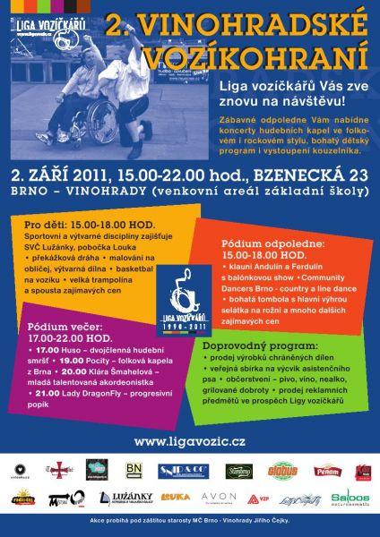 Brno, ZŠ Bzenecká - Vinohradské vozíkohraní 2011