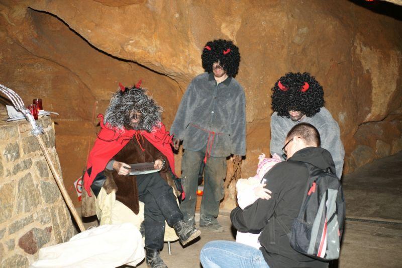Koněpruské jeskyně - Mikuláš s čerty