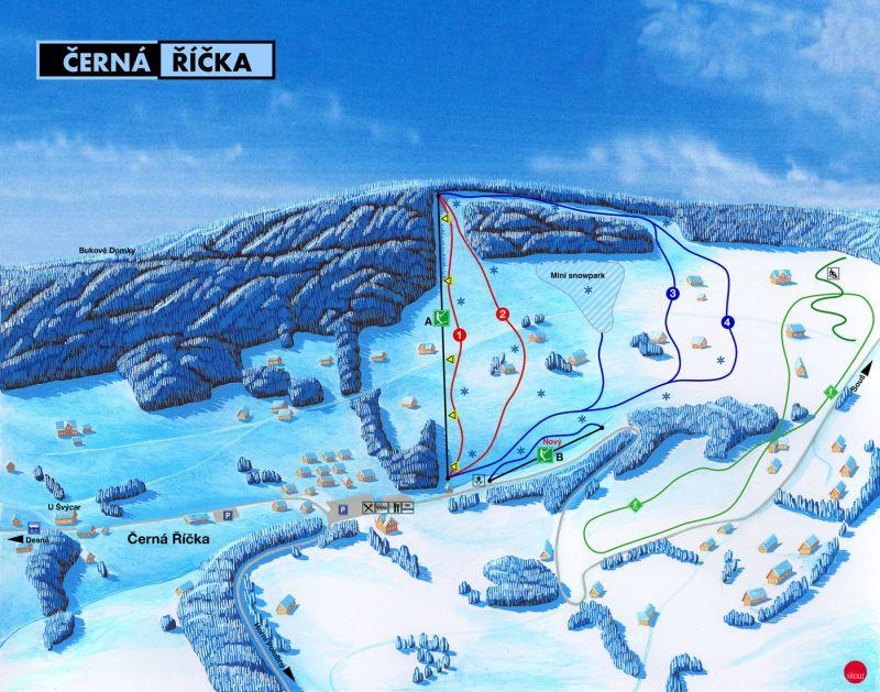 Skiareál Černá Říčka - Desná