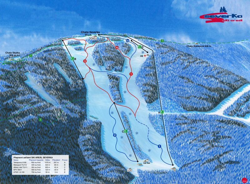 Ski areál Severka - Velký Polom