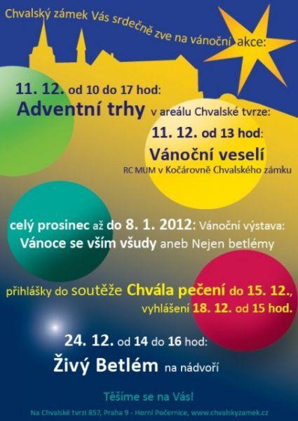Chvalský zámek - Adventní trhy