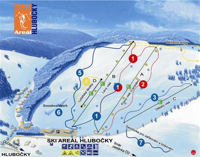 Ski areál Hlubočky