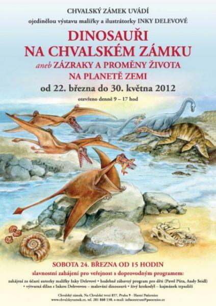 Slavnostní zahájení výstavy Dinosauři na Chvalském zámku a zahájení výtvarné soutěže