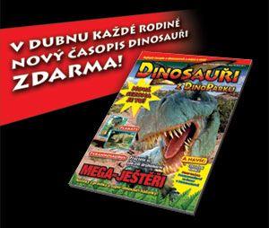 Časopis Dinosauři z DinoParku v dubnu rozdáváme každé rodině zdarma