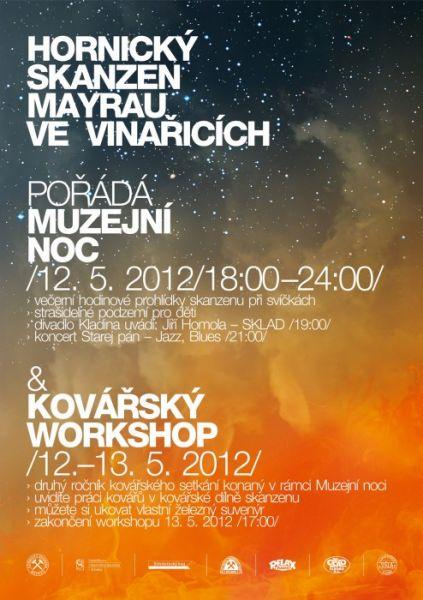 Důl Mayrau Vinařice u Kladna - Muzejní noc a kovářský workshop