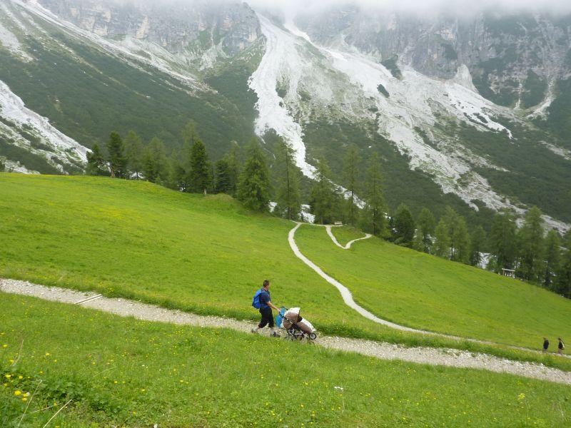 Horská trasa pro kočárky v údolí Stubaital