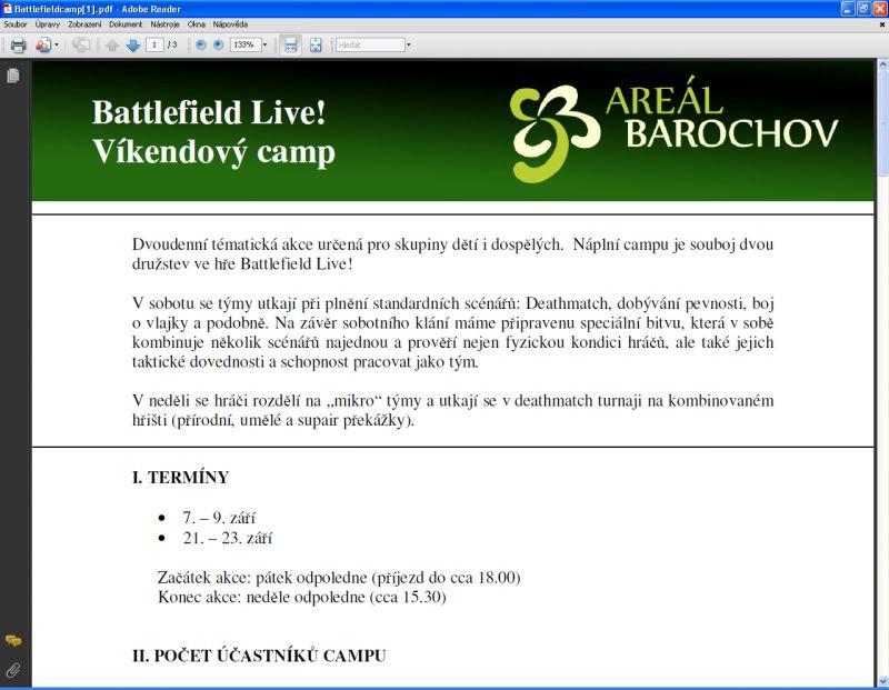 Areál Barochov - Víkendový kemp