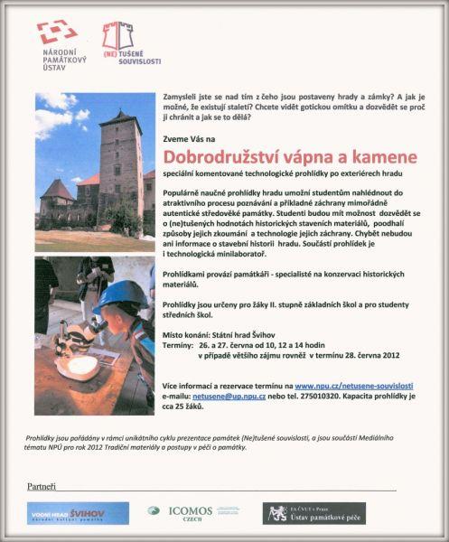 Hrad Švihov - nabídka pro školní skupiny