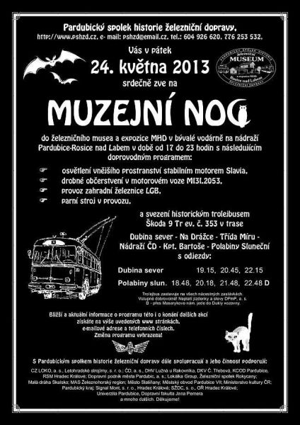 Železniční Museum Rosice nad Labem - Muzejní noc