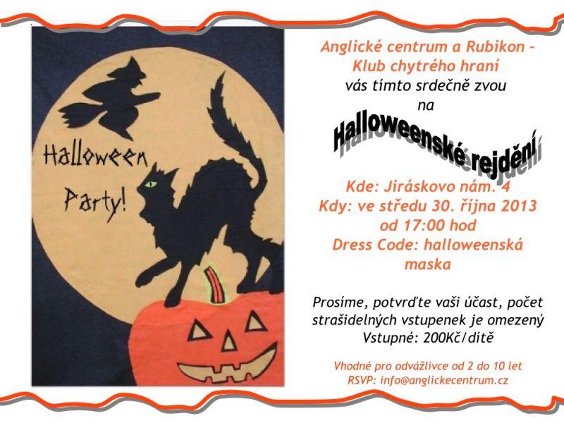 Halloweenskou party v Anglickém centru v Plzni