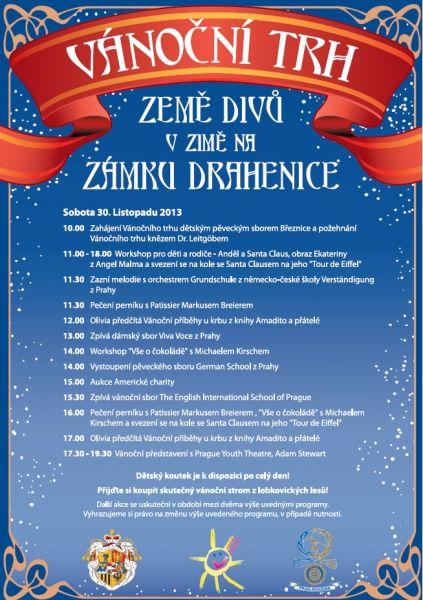 Zámek Drahenice u Březnice - Vánoční charitativní trh ZEMĚ DIVŮ